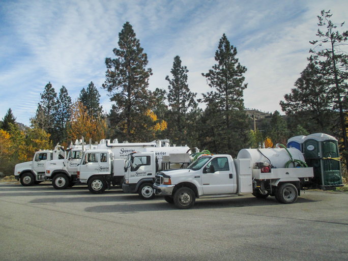 Superior Septic Truck Fleet, Pump Truck for septic services